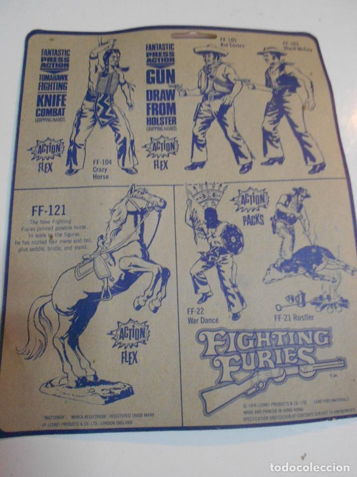 Figuras y Muñecos Mego: ANTIGUO BLISTER COMPLEMENTOS DE INDIOS FIGHTING FURIES PARA FIGURAS TIPO MADELMAN O SIMILAR - Foto 2 - 200742632