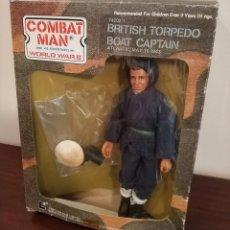 Figure e Bambolotti Mego: FIGURA MEGO LION ROCK COMBAT MAN WORLD WAR II CAPITAN BARCO BRITANICO AÑO 1981 EN CAJA. Lote 225262930