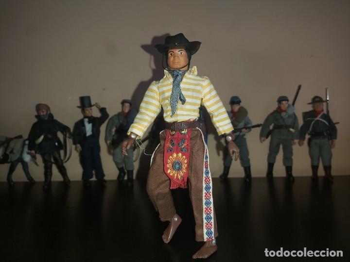 Figuras y Muñecos Mego: Mego indio chaman brujo Don Juan Matus, Don Genaro Flores, Carlos Castaneda, Completo. Misterio - Foto 2 - 246685405