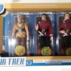 Figuras y Muñecos Mego: STAR TREK PACK DE 3 FIGURAS SPOCK, KIRK & KHAN MEGO. Lote 294827743