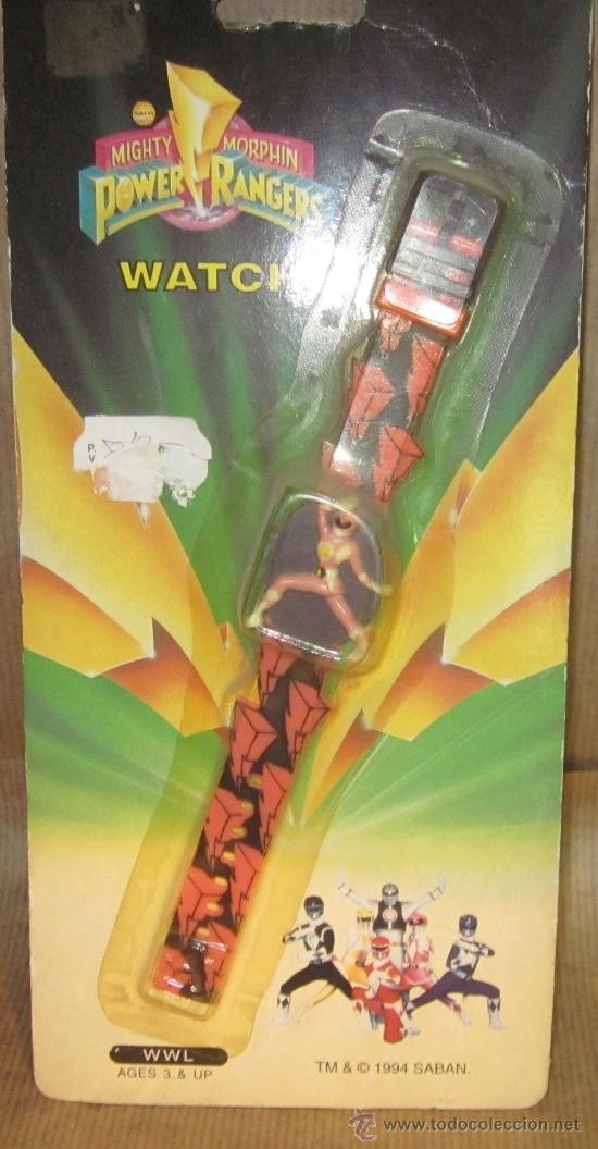 RELOJ POWER RANGERS,BIZAK,BLISTER,AÑO 1994,A ESTRENAR (Juguetes - Figuras de Acción - Power Rangers)