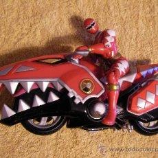 Figuras y Muñecos Power Rangers: SUPER MOTO TIBURON CON FIGURA. Lote 34239065