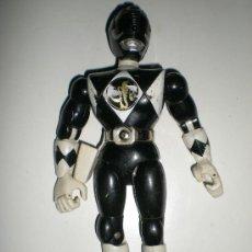 Figuras y Muñecos Power Rangers: POWER RANGERS NEGRO DE BANDAI 21 CM ARTICULADO COMPLETOCON EFECTOS DE PATA . Lote 37761020