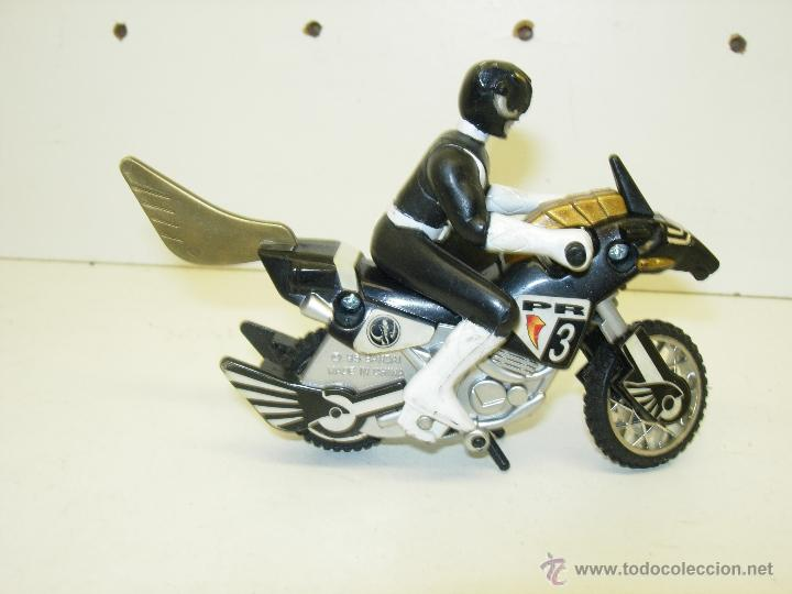 Figuras y Muñecos Power Rangers: Figura y moto POWER RANGERS MIGHTY MORPHIN THUNDER BIKE BANDAI 1995 - Foto 1 - 39363511