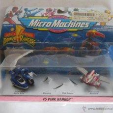Figuras y Muñecos Power Rangers: MICRO MACHINES POWER RANGERS, 5 PINK RANGER, EN BLISTER. CC. Lote 46341490