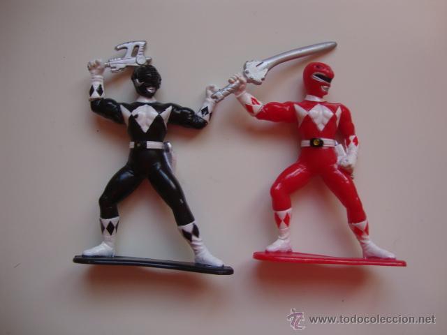 2 MUÑECOS AÑOS 90 POWER RANGERS (Juguetes - Figuras de Acción - Power Rangers)