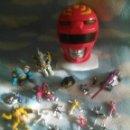 Figuras y Muñecos Power Rangers: LOTE FIGURITAS VEHICULOS ALIENS Y BUSTO POWER RANGERS SABAN. Lote 150327288
