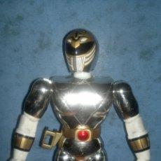 Figuras y Muñecos Power Rangers: FIGURA • POWER RANGER PLATEADO (BANDAI 1995) GRANDE 21CM. Lote 52838088