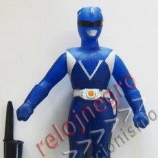 Figuras y Muñecos Power Rangers: FIGURA DE ¿ POWERS RANGERS ? - AZUL - DE GOMA - MUÑECO ARTICULADO - JUGUETE - ¿ VINTAGE ?. Lote 54773773