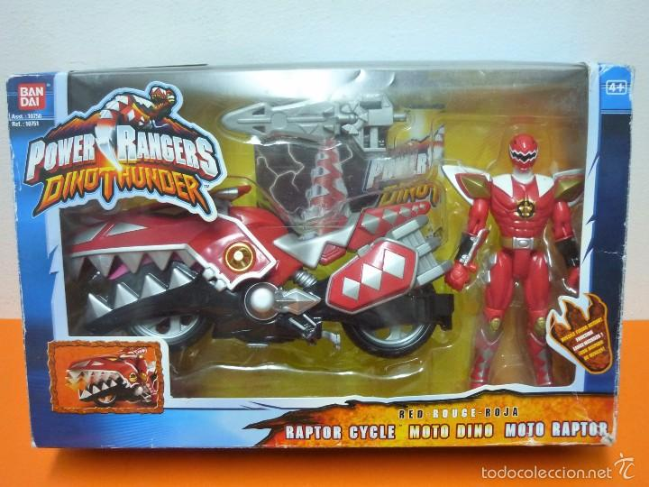 POWER RANGERS- DINOTHUNDER - RAPTOR CYCLES- ROJA- BANDAI (Juguetes - Figuras de Acción - Power Rangers)