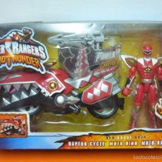 Figuras y Muñecos Power Rangers: POWER RANGERS- DINOTHUNDER - RAPTOR CYCLES- ROJA- BANDAI. Lote 57300069