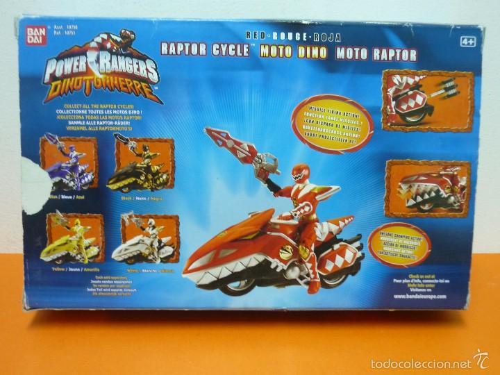 Figuras y Muñecos Power Rangers: POWER RANGERS- DINOTHUNDER - RAPTOR CYCLES- ROJA- BANDAI - Foto 2 - 57300069