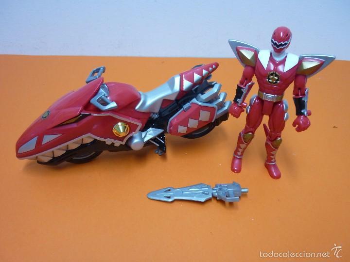 Figuras y Muñecos Power Rangers: POWER RANGERS- DINOTHUNDER - RAPTOR CYCLES- ROJA- BANDAI - Foto 3 - 57300069