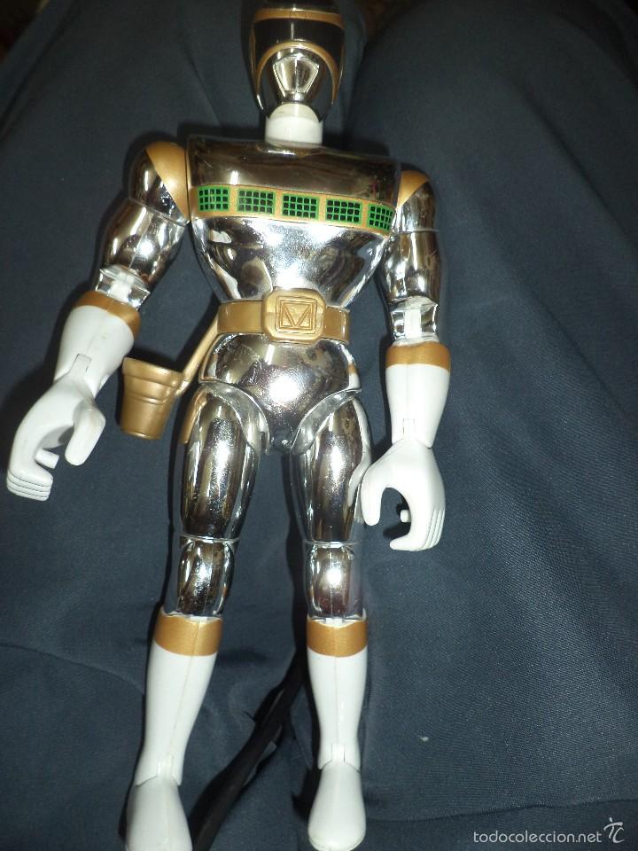 FIGURA DE ACCIÓN POWER RANGERS IN THE SPACE DE BANDAI 1998.SILVER MEGA. (Juguetes - Figuras de Acción - Power Rangers)