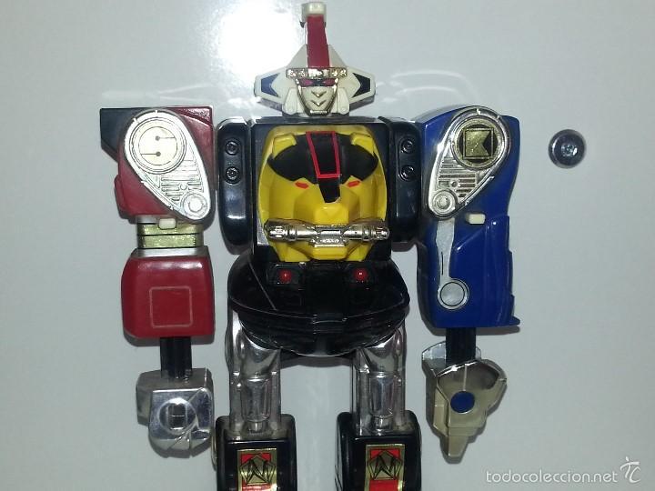 Figuras y Muñecos Power Rangers: ROBOT TRANSFORMER DE BANDAI POWER RANGERS DELUXE NINJA MEGAZORD 1995 BIOMAN - Foto 10 - 60169823