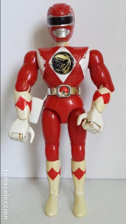 ANTIGUA FIGURA POWER RANGER ROJO DE BANDAI (Juguetes - Figuras de Acción - Power Rangers)