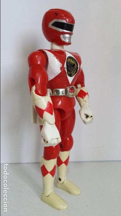 Figuras y Muñecos Power Rangers: ANTIGUA FIGURA POWER RANGER ROJO DE BANDAI - Foto 6 - 62219476
