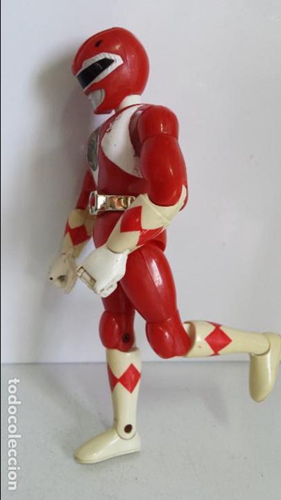 Figuras y Muñecos Power Rangers: ANTIGUA FIGURA POWER RANGER ROJO DE BANDAI - Foto 7 - 62219476