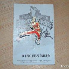 Figuras y Muñecos Power Rangers: PIN POWER RANGER ROJO POWER RANGERS . Lote 62542420