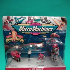 Figuras y Muñecos Power Rangers: MICRO MACHINES POWER RANGERS #1 RED RANGER TYRANNOSAURUS GALOOB 74700 MICROMACHINES BLISTER FAMOSA. Lote 73693695
