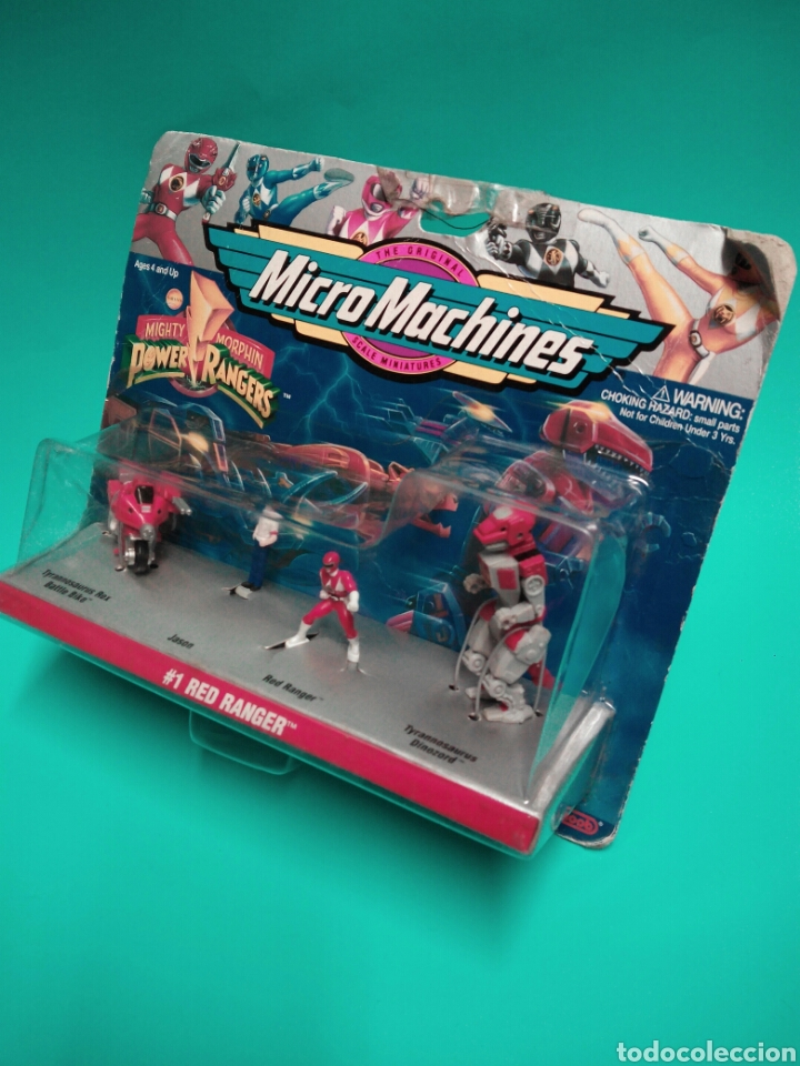 Figuras y Muñecos Power Rangers: MICRO MACHINES POWER RANGERS #1 RED RANGER TYRANNOSAURUS GALOOB 74700 MICROMACHINES BLISTER FAMOSA - Foto 2 - 73693695