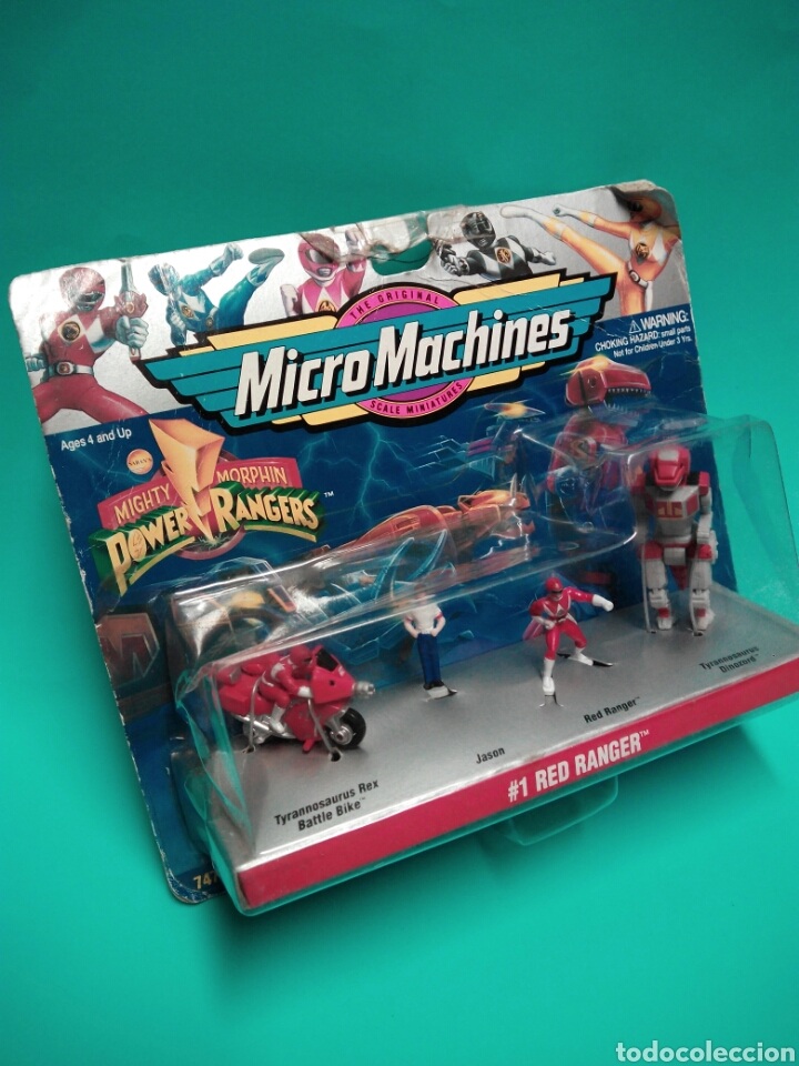 Figuras y Muñecos Power Rangers: MICRO MACHINES POWER RANGERS #1 RED RANGER TYRANNOSAURUS GALOOB 74700 MICROMACHINES BLISTER FAMOSA - Foto 3 - 73693695