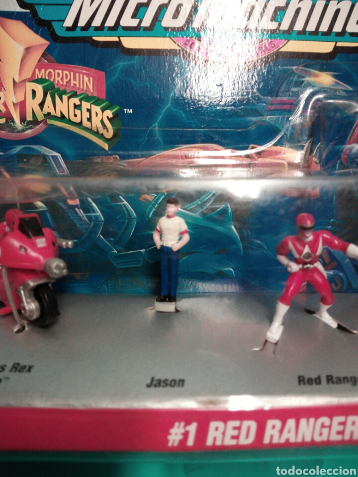 Figuras y Muñecos Power Rangers: MICRO MACHINES POWER RANGERS #1 RED RANGER TYRANNOSAURUS GALOOB 74700 MICROMACHINES BLISTER FAMOSA - Foto 6 - 73693695