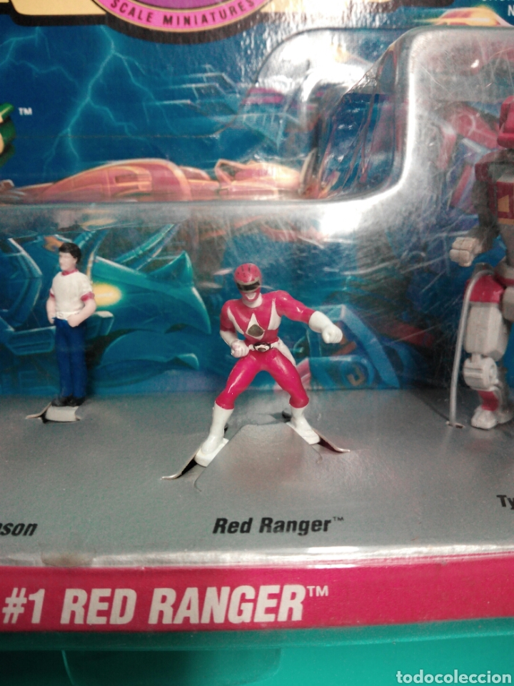 Figuras y Muñecos Power Rangers: MICRO MACHINES POWER RANGERS #1 RED RANGER TYRANNOSAURUS GALOOB 74700 MICROMACHINES BLISTER FAMOSA - Foto 7 - 73693695