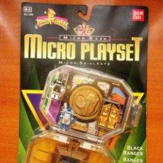 Figuras y Muñecos Power Rangers: POWER RANGERS MICRO BASE MICRO PLAYSET. BLACK RANGER [NUEVO] MICRO MORPHIN. RANGER NEGRO. Lote 74096415