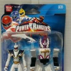 Figuras y Muñecos Power Rangers: POWER RANGERS. FIGURA DINO 10 CM ZORD BLINDADO. NUEVO EN BLISTER. BANDAI.ARMADURA.BLANCO.DINOTHUNDER. Lote 187443340