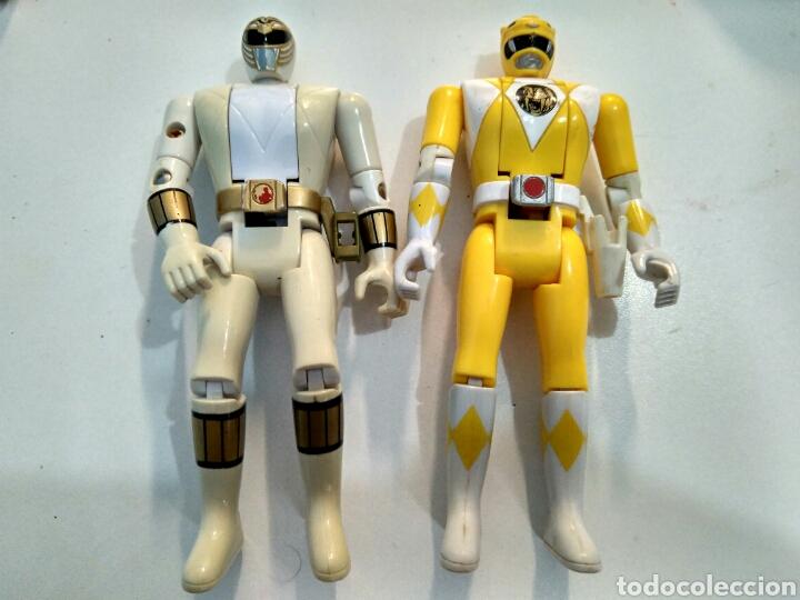 MIGHTY MORPHIN POWER RANGERS BLANCO Y AMARILLO, AUTO MORPHIN. BANDAI 1993. VINTAGE. (Juguetes - Figuras de Acción - Power Rangers)