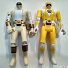 Figuras y Muñecos Power Rangers: MIGHTY MORPHIN POWER RANGERS BLANCO Y AMARILLO, AUTO MORPHIN. BANDAI 1993. VINTAGE.. Lote 85406046