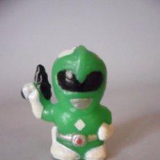 Figuras y Muñecos Power Rangers: POWER RANGERS GREEN RANGER FIGURA DE PVC DE 3 CM. Lote 86202984