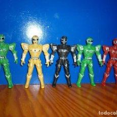 Figuras y Muñecos Power Rangers - LOTE 5 POWER RANGERS ARTICULADOS. 9,5 CM. - 90020600