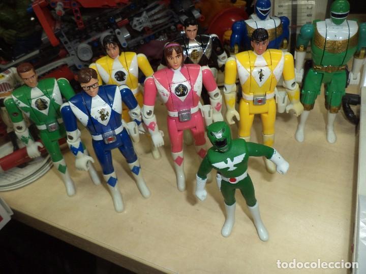 POWER RANGERS.LOTE FIGURAS ARTICULADAS CABEZA GIRATORIA ORIGINALES BANDAI 1993 Y 1 BOOTLEG. (Juguetes - Figuras de Acción - Power Rangers)