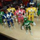 Figuras y Muñecos Power Rangers: POWER RANGERS.LOTE FIGURAS ARTICULADAS CABEZA GIRATORIA ORIGINALES BANDAI 1993 Y 1 BOOTLEG.. Lote 151151860