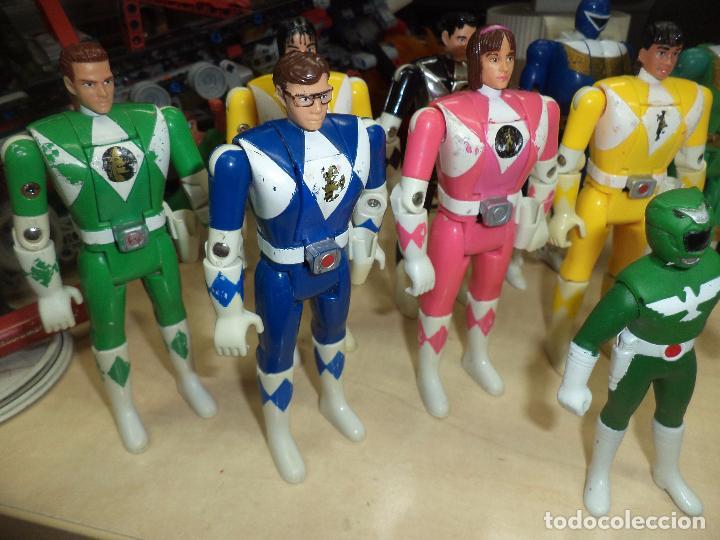 Figuras y Muñecos Power Rangers: Power Rangers.Lote figuras articuladas cabeza giratoria originales Bandai 1993 y 1 Bootleg. - Foto 2 - 151151860