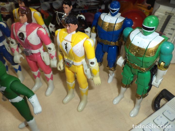 Figuras y Muñecos Power Rangers: Power Rangers.Lote figuras articuladas cabeza giratoria originales Bandai 1993 y 1 Bootleg. - Foto 3 - 151151860