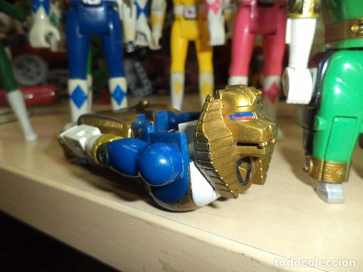 Figuras y Muñecos Power Rangers: Power Rangers.Lote figuras articuladas cabeza giratoria originales Bandai 1993 y 1 Bootleg. - Foto 4 - 151151860
