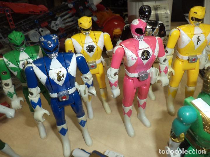 Figuras y Muñecos Power Rangers: Power Rangers.Lote figuras articuladas cabeza giratoria originales Bandai 1993 y 1 Bootleg. - Foto 6 - 151151860