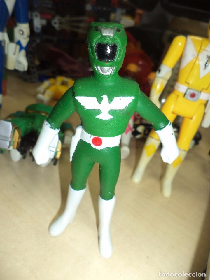 Figuras y Muñecos Power Rangers: Power Rangers.Lote figuras articuladas cabeza giratoria originales Bandai 1993 y 1 Bootleg. - Foto 7 - 151151860