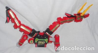 ROBOT TRANSFORMER RED DRAGON DE POWER RANGERS (Juguetes - Figuras de Acción - Power Rangers)