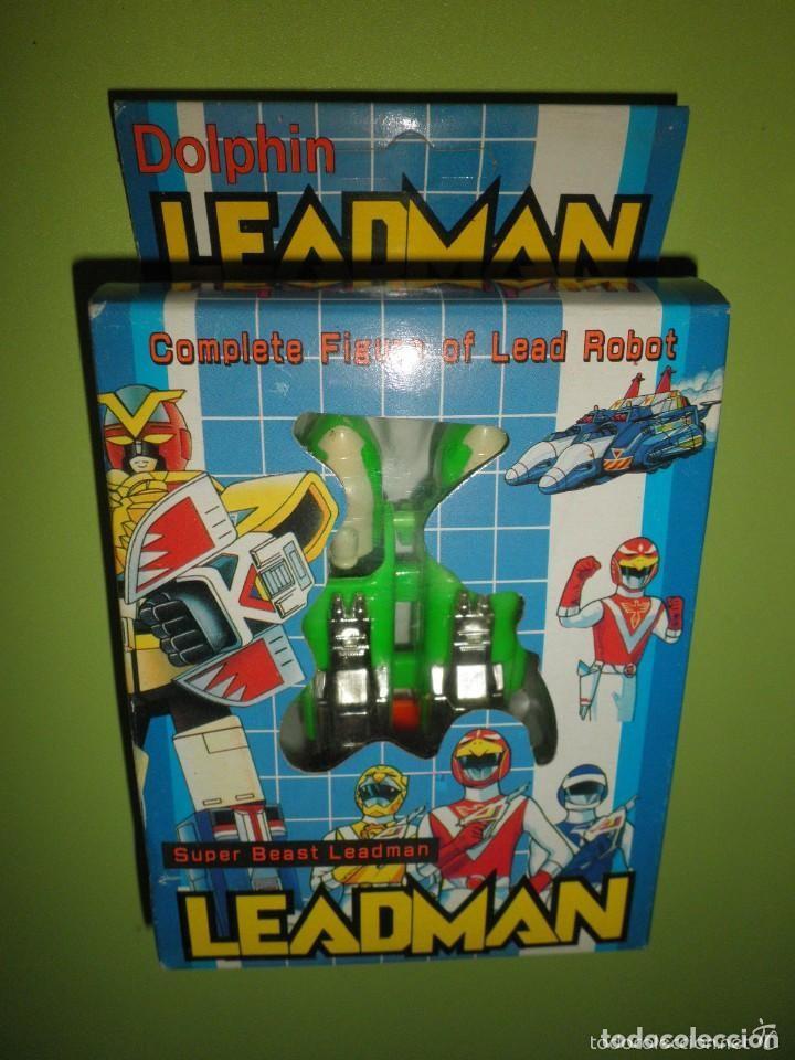FIGURA TRANSFORMABLE ROBOT POWER RANGER DOLPHIN LEADMAN NUEVO EN CAJA ANTIGUO MUÑECO POWER RANGERS (Juguetes - Figuras de Acción - Power Rangers)