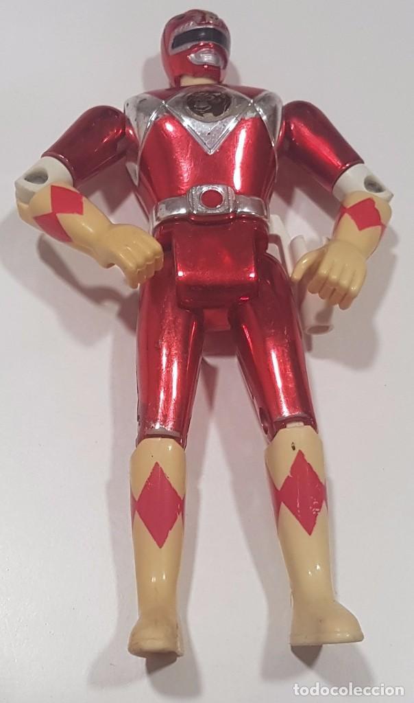 FIGURA / MUÑECO , POWER RANGERS , ROJO BRILLANTE , BANDAI 1995 (Juguetes - Figuras de Acción - Power Rangers)