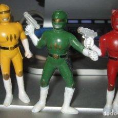 Figuras y Muñecos Power Rangers: FIGURAS DE GOMA DURA PVC ANTIGUAS RARAS DE LOS POWER RANGERS (SIN MARCA). Lote 97303803