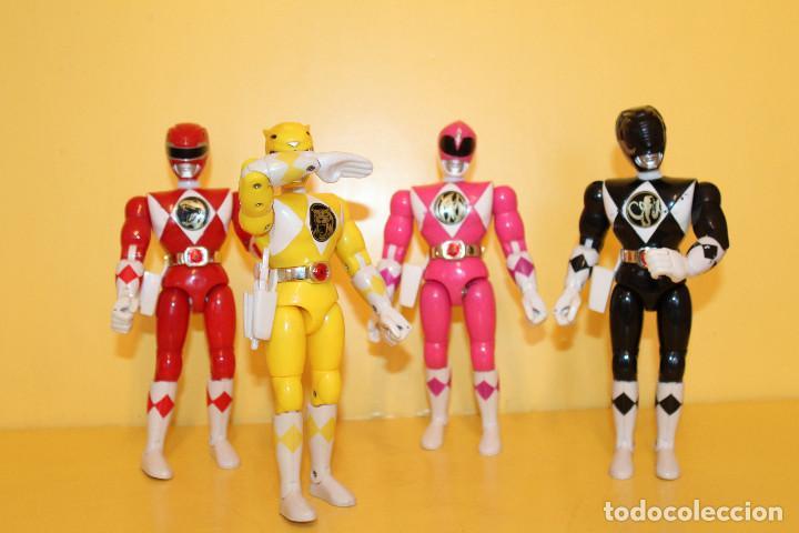LOTE DE 4 POWER RANGERS DE BANDAI MIDEN 20 CMS - AÑO 94 (Juguetes - Figuras de Acción - Power Rangers)