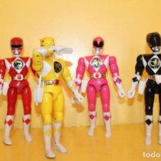 Figures and Dolls Power Rangers - LOTE DE 4 POWER RANGERS DE BANDAI MIDEN 20 CMS - AÑO 94 - 98613547
