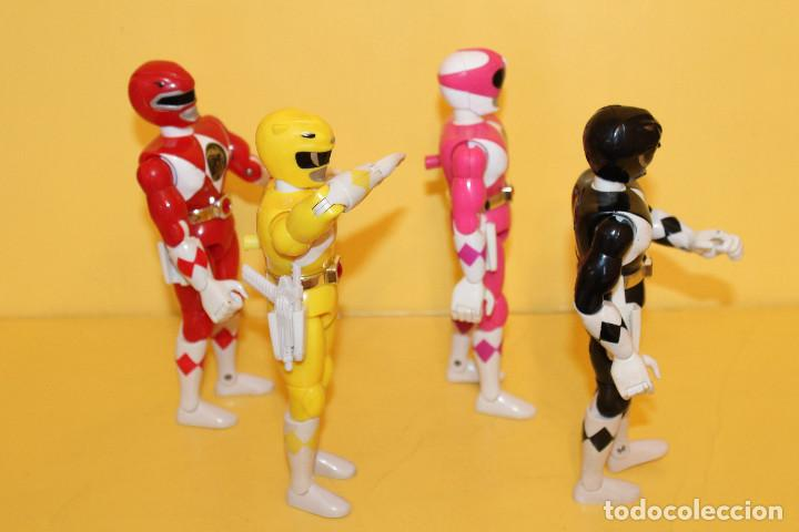 Figuras y Muñecos Power Rangers: LOTE DE 4 POWER RANGERS DE BANDAI MIDEN 20 CMS - AÑO 94 - Foto 2 - 98613547