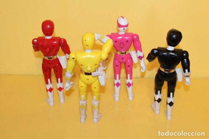 Figuras y Muñecos Power Rangers: LOTE DE 4 POWER RANGERS DE BANDAI MIDEN 20 CMS - AÑO 94 - Foto 3 - 98613547