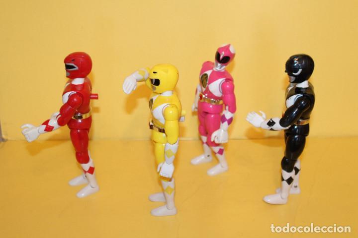 Figuras y Muñecos Power Rangers: LOTE DE 4 POWER RANGERS DE BANDAI MIDEN 20 CMS - AÑO 94 - Foto 4 - 98613547